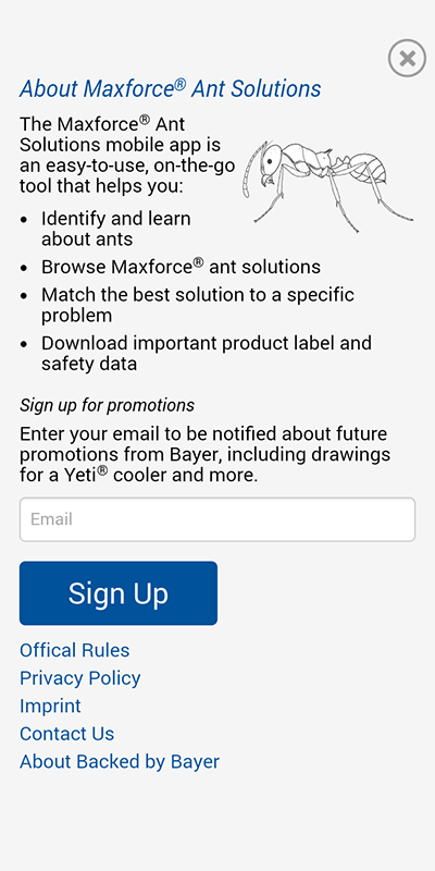 Bayer Maxforce Ant Solutions- screenshot