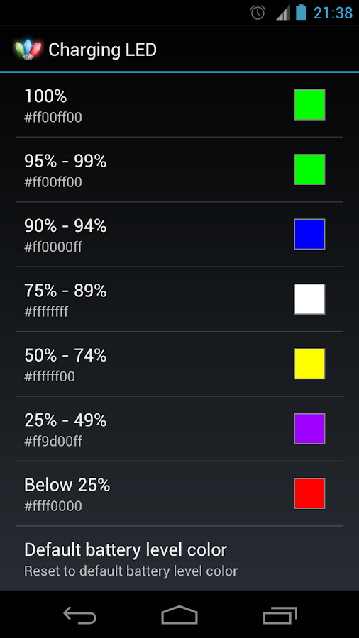Charging LED- screenshot