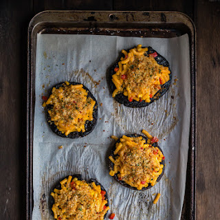 Macaroni and Cheese Stuffed Portobello Mushrooms