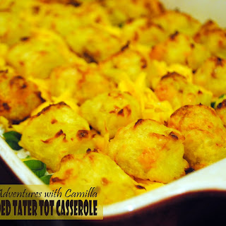 Fully Loaded Tater Tot Casserole for #SundaySupper