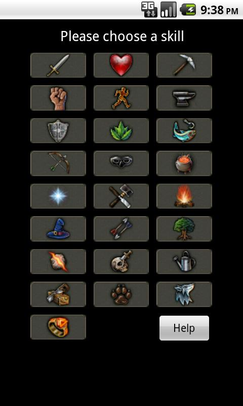 Runescape Calculator- screenshot