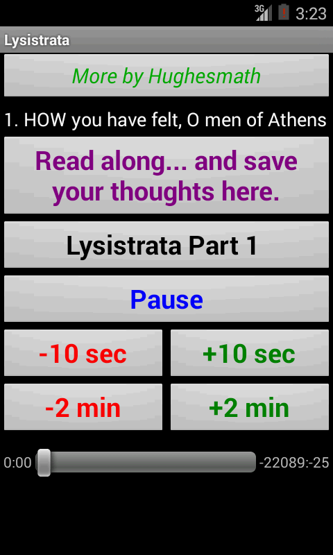 Lysistrata Audio And Text Android Apps On Google Play