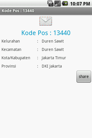 Kode Pos Indonesia - screenshot