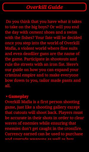 Overkill Guide