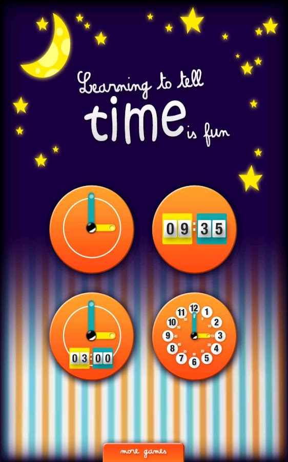 Learning to tell time is fun- screenshot