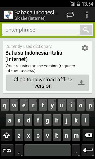 Bahasa Indonesia-Italia