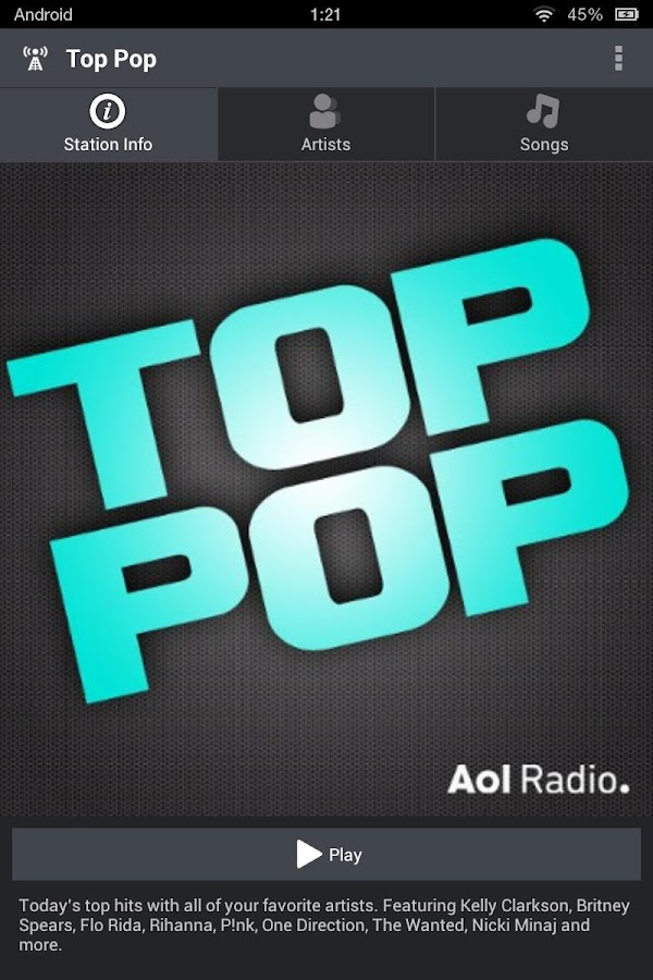 AOL Radio - screenshot