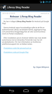 Liferay Blog Reader- screenshot thumbnail