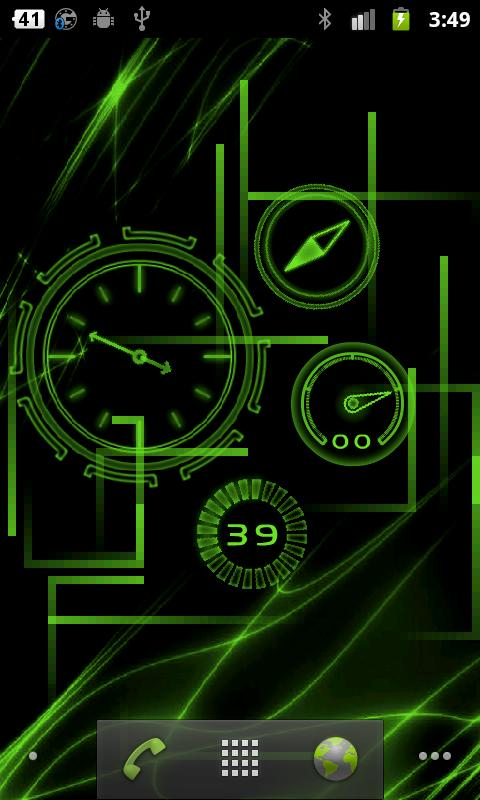 Neon Clock GL Live wallpaper - screenshot