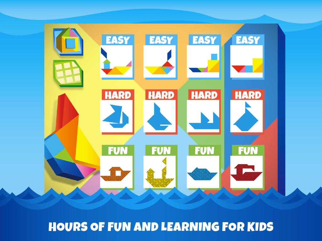 Kids Tangram Puzzles: Ships - screenshot