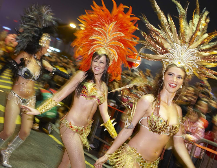 This may look like Carnival, but it's actually the Chinese New Year Parade in Hong Kong.