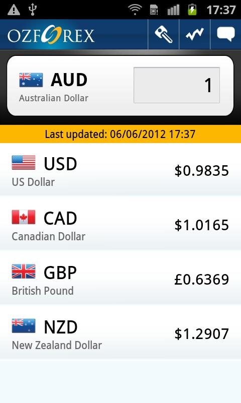 Forex Currency Converter - screenshot
