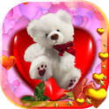 Teddy Bear Valentine Free LWP icon