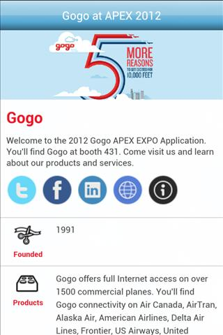 Gogo at Apex Expo 2012 - screenshot
