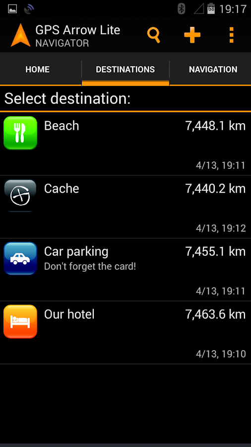 GPS Arrow Navigator LITE - screenshot