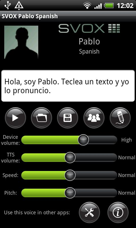 SVOX Spanish Pablo Voice - screenshot