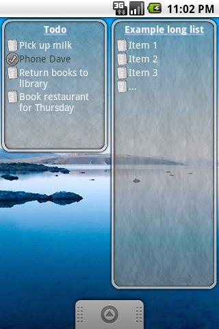 ToDo List Widget screenshot
