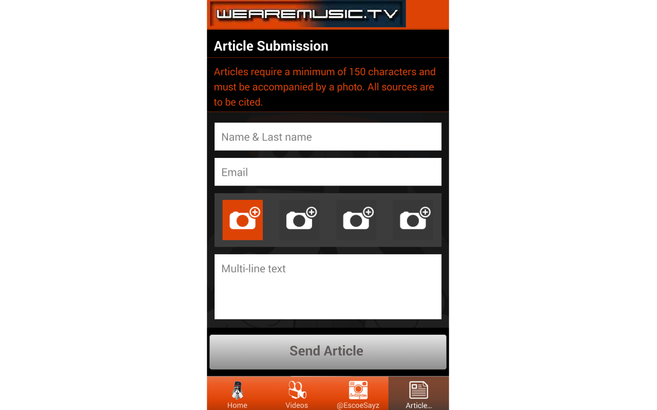 WeAreMusic.TV- screenshot