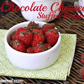 Chocolate Cheesecake Stuffed Raspberries