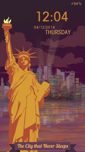New York Night Locker Theme