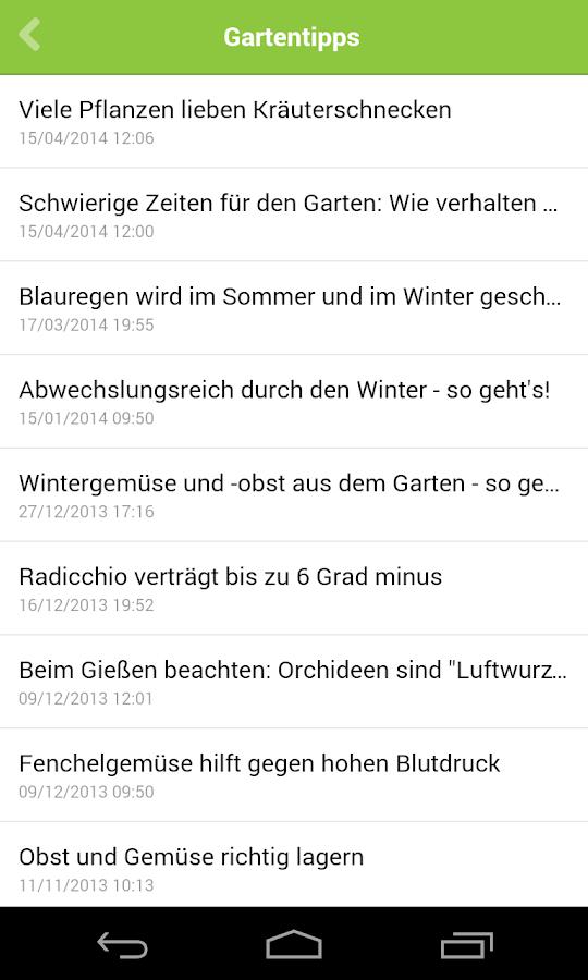 Infranken Garten-app - Android Apps On Google Play Gartentipps Winter Beachten