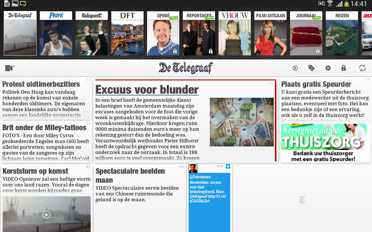 De Telegraaf- screenshot