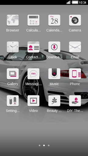 【免費交通運輸App】White Car Android Theme-APP點子