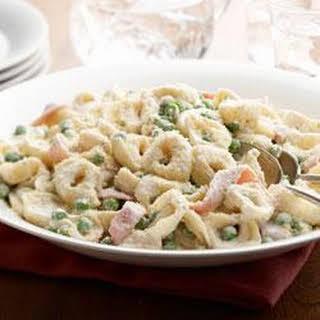 Creamy Tortellini Carbonara.