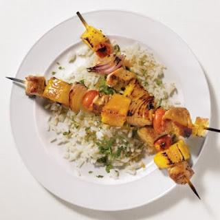 Pork and Pineapple Kebabs.