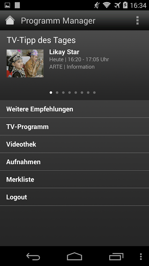 Programm Manager- screenshot