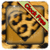 Leopard Fur Clock Widget