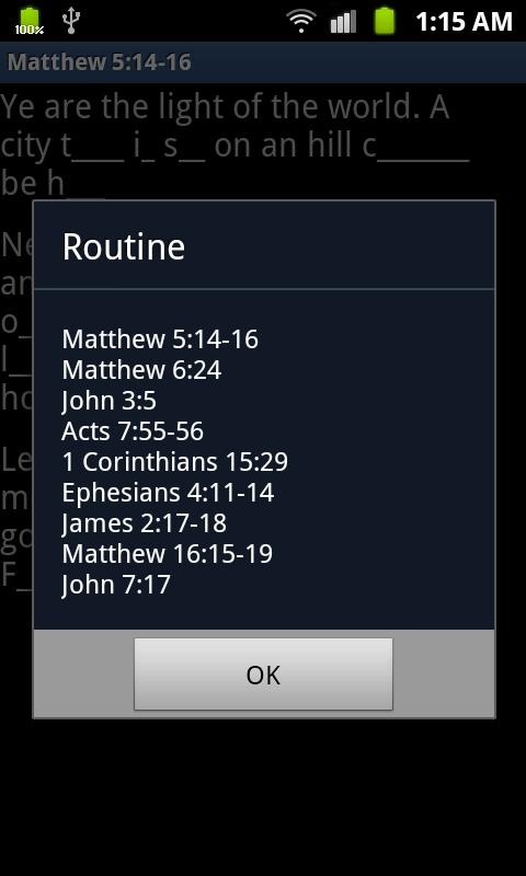 Scripture Mastery Helper- screenshot