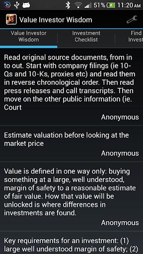 Value Investor Wisdom