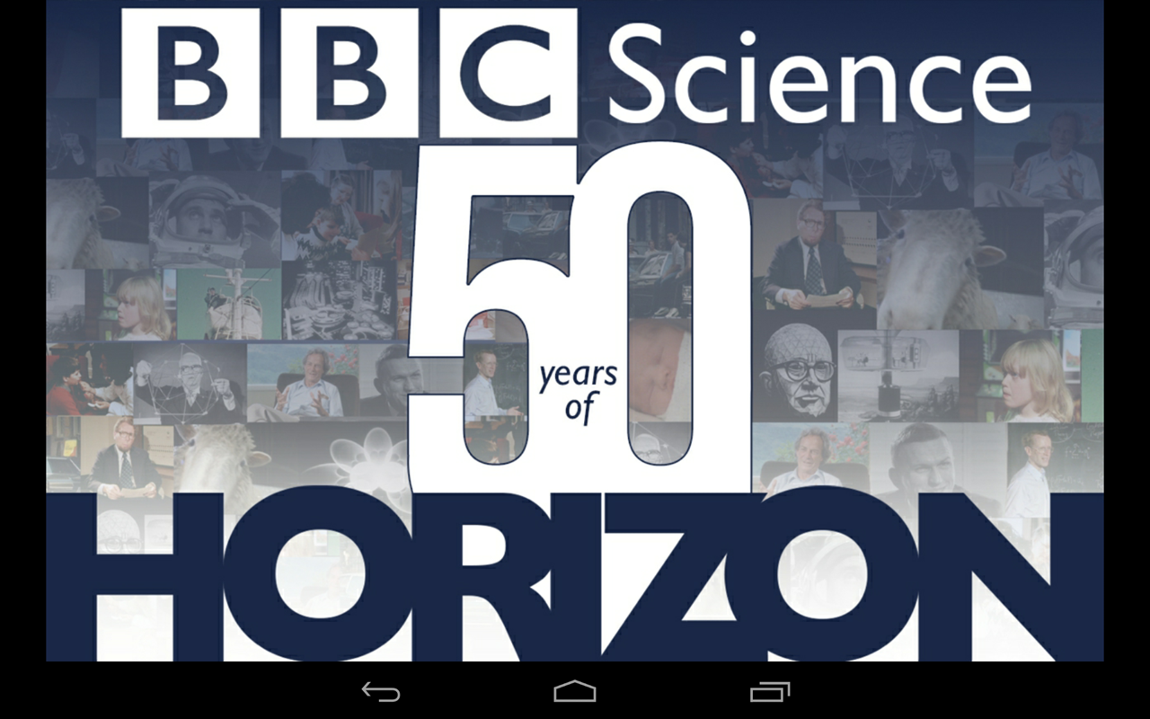 BBC 50 Years of Horizon - screenshot