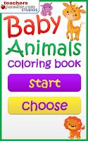 Screenshot of Baby Animals Coloring Book