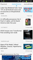 Screenshot of News on Android
