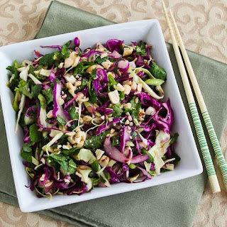 Thai-Style Spicy Cabbage Slaw with Mint and Cilantro.