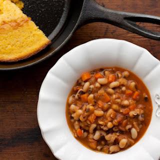 Smoky Spiced Black-Eyed Peas with Bacon Recipe
