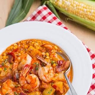 Shrimp and Roasted Corn Chowder.