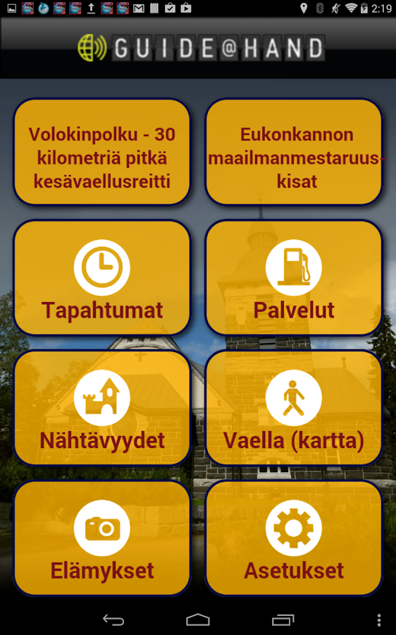 Sonkajärvi GUIDE@HAND- screenshot