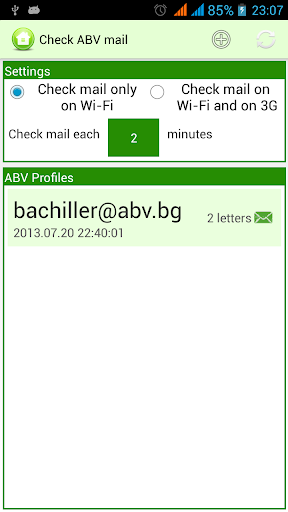 Check ABV emails