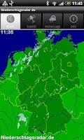 Screenshot of NiederschlagsRadar ohne Werb.