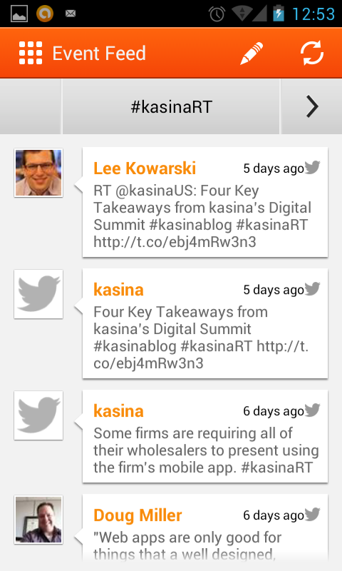 kasina Events - screenshot