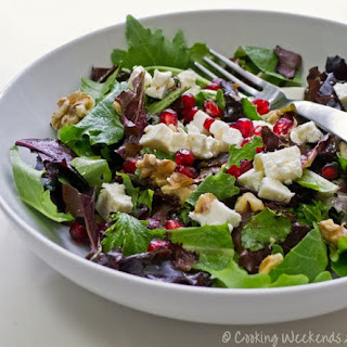 Salad with Pomegranate, Feta & Walnuts