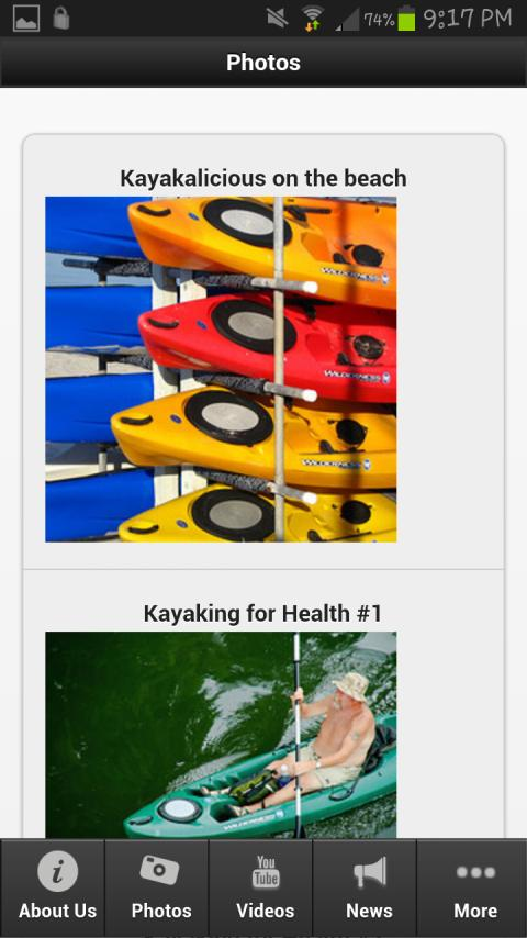 Wilderness Kayaks - screenshot