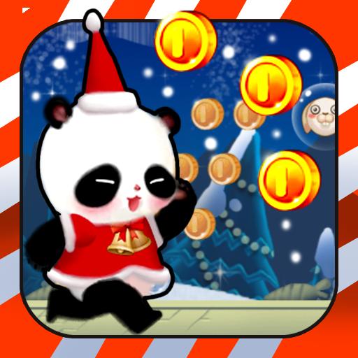聖誕熊貓運行 休閒 LOGO-阿達玩APP