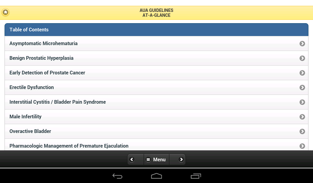 Urology Guidelines PrimaryCare - screenshot