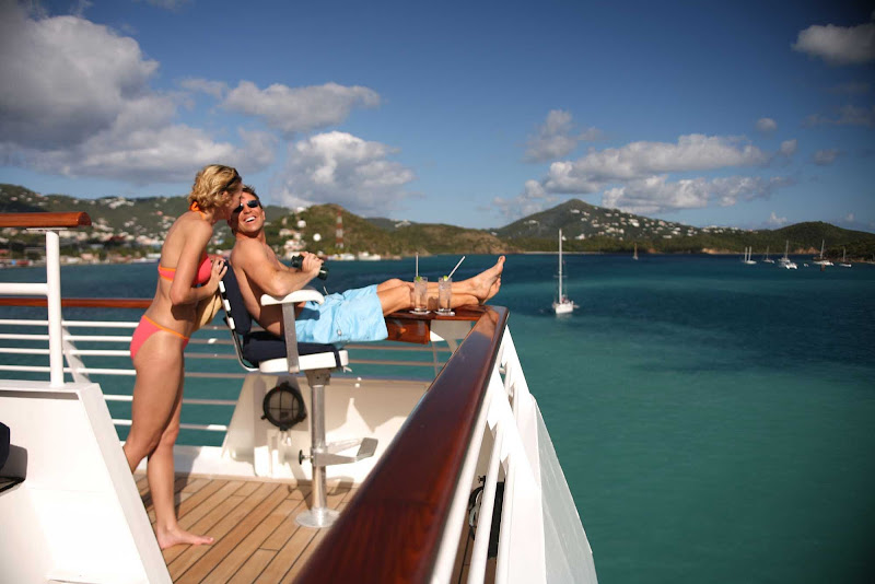 Enjoy the sights and get rejuvenated on the Binocular Deck aboard a SeaDream ship.