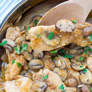 Mushroom Chicken With Brandy Sauce