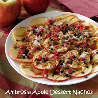 Ambrosia Apple Dessert Nachos.